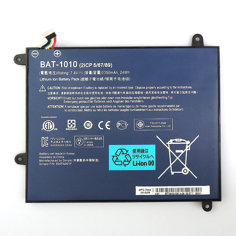 Acer Iconia Tab A500 Battery BAT-1010 DR-A500 A27