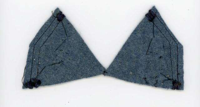 Pattes de col du 109 RI 14/18 Bleu horizon ESC - MAR 5 VENDUES 109ri315