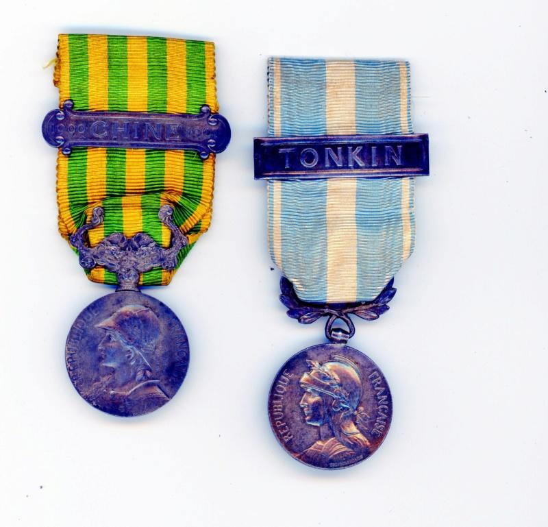 Médailles campagne de Chine et coloniale Tonkin -ALPINS-AOUT3 Cololo10