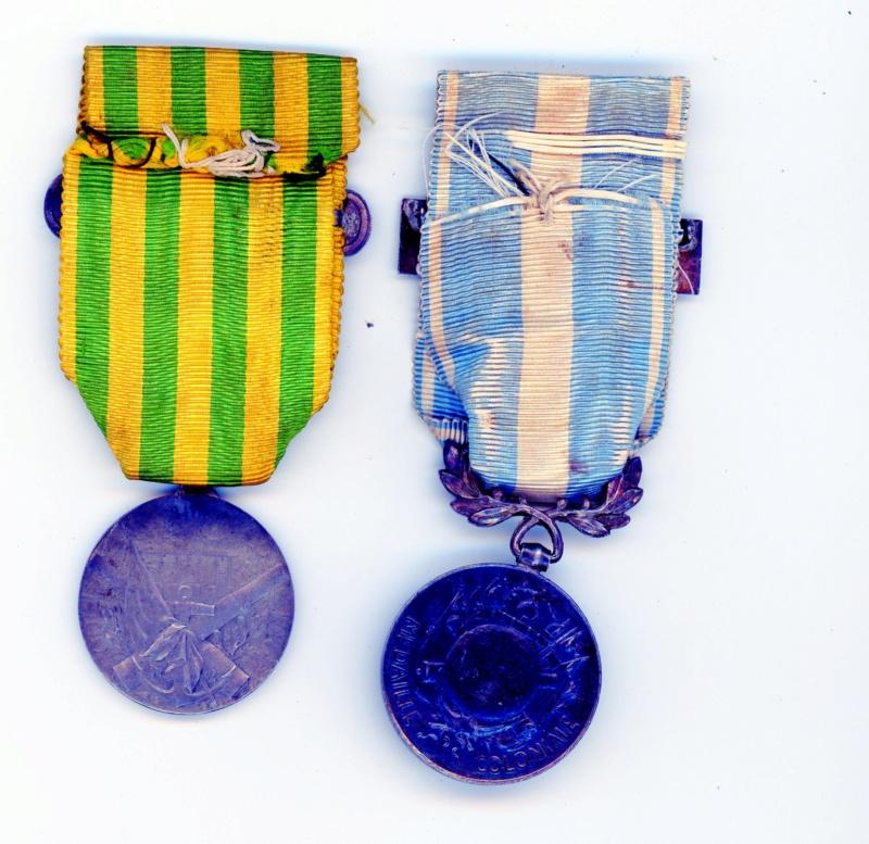 Médailles campagne de Chine et coloniale Tonkin -ALPINS-AOUT3 Cololo11