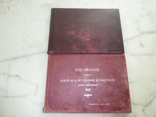 Sud Oranais 1908 2 albums Colonnes du Haut-Cuir. P1100935