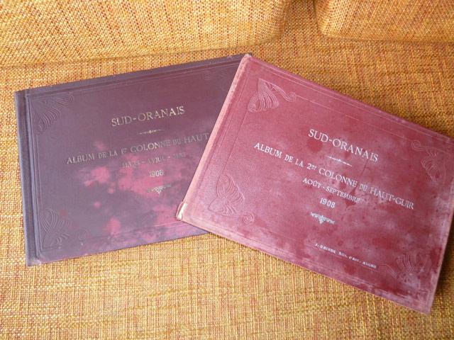 Sud Oranais 1908 2 albums Colonnes du Haut-Cuir. P1100936