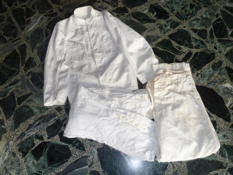 Tenue Coton Blanche Officier des Troupes coloniales 1900 ESC - JUIN 2  Vendue P1110721