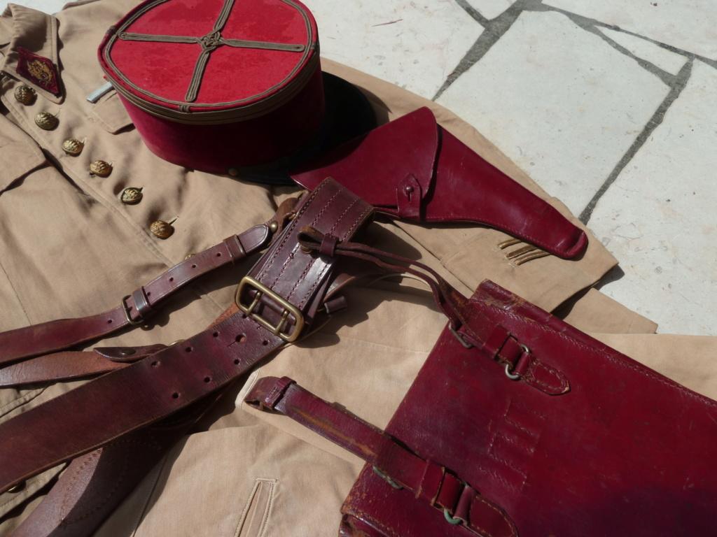 Ensemble toile médecin Guerre RIF Vareuse 29, Képi, culotte et accessoires ESC - JUIL 3 Finie P1120119