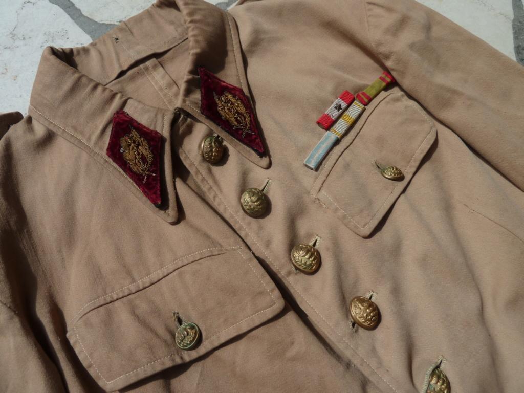 Ensemble toile médecin Guerre RIF Vareuse 29, Képi, culotte et accessoires ESC - JUIL 3 Finie P1120122