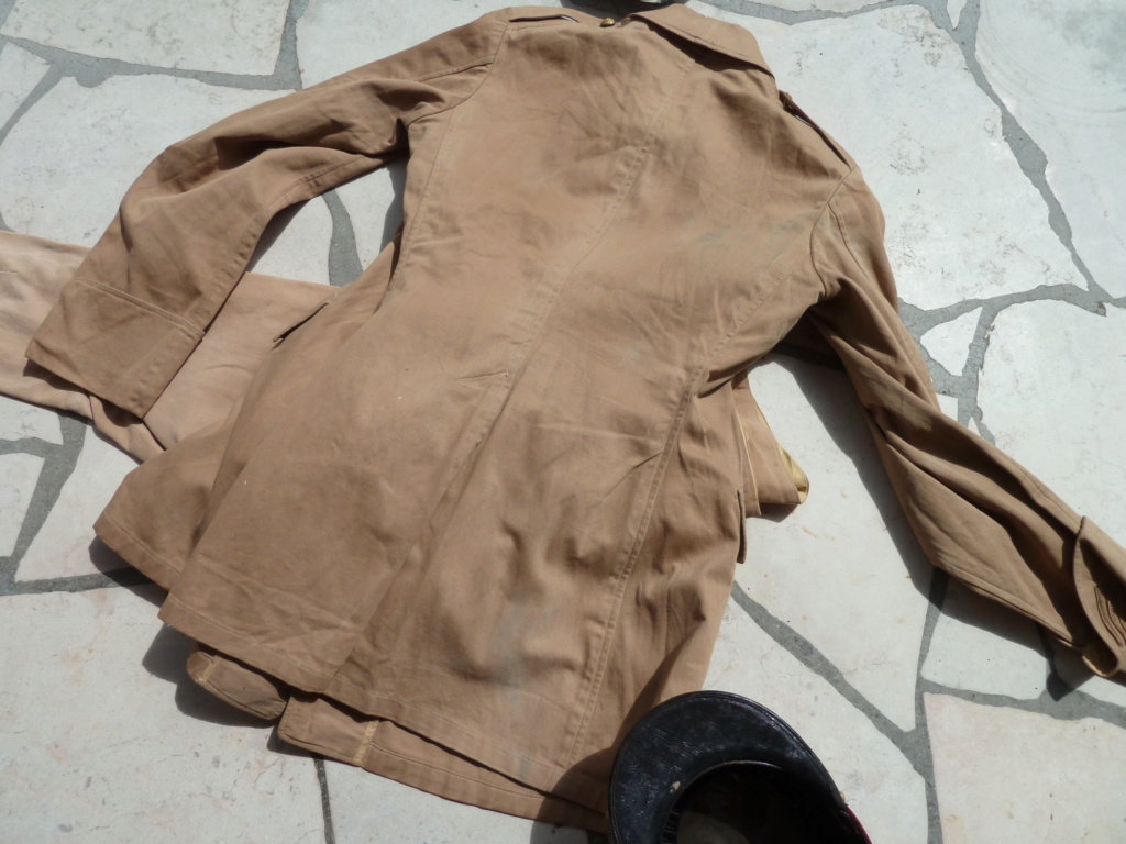 Ensemble toile médecin Guerre RIF Vareuse 29, Képi, culotte et accessoires ESC - JUIL 3 Finie P1120123