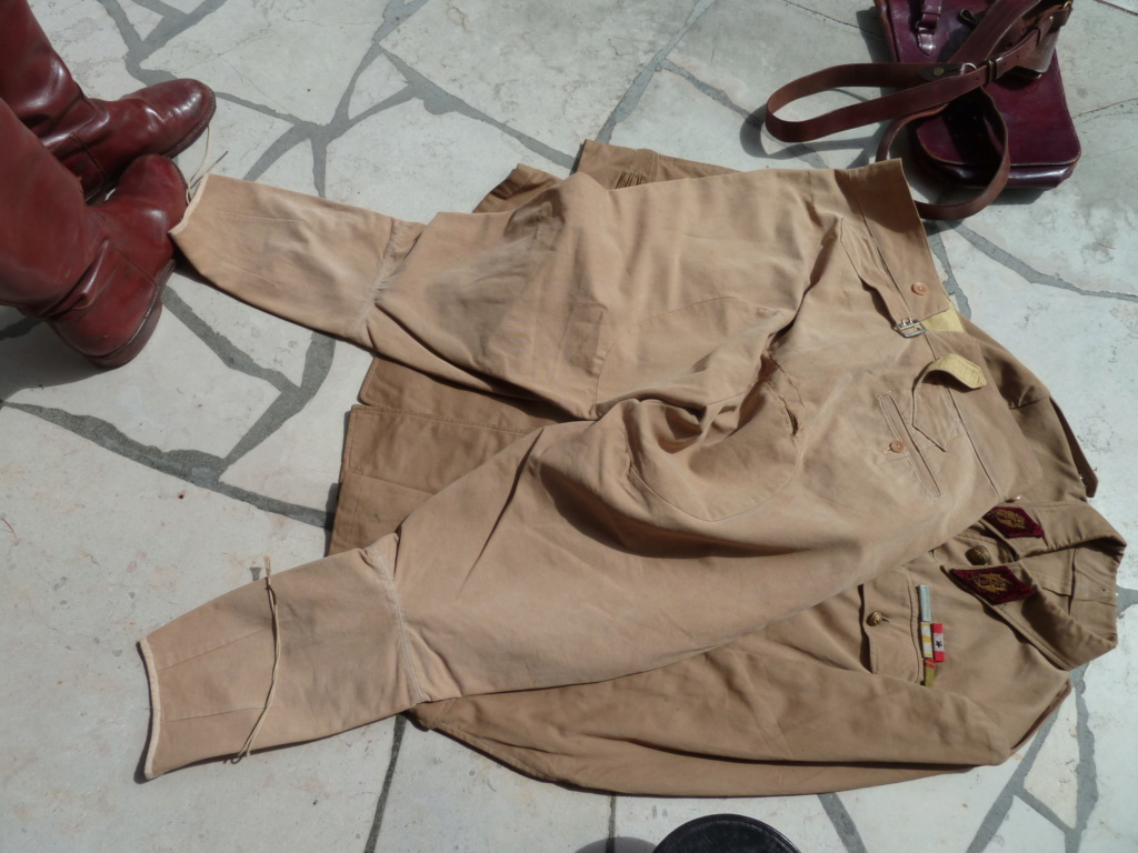 Ensemble toile médecin Guerre RIF Vareuse 29, Képi, culotte et accessoires ESC - JUIL 3 Finie P1120124