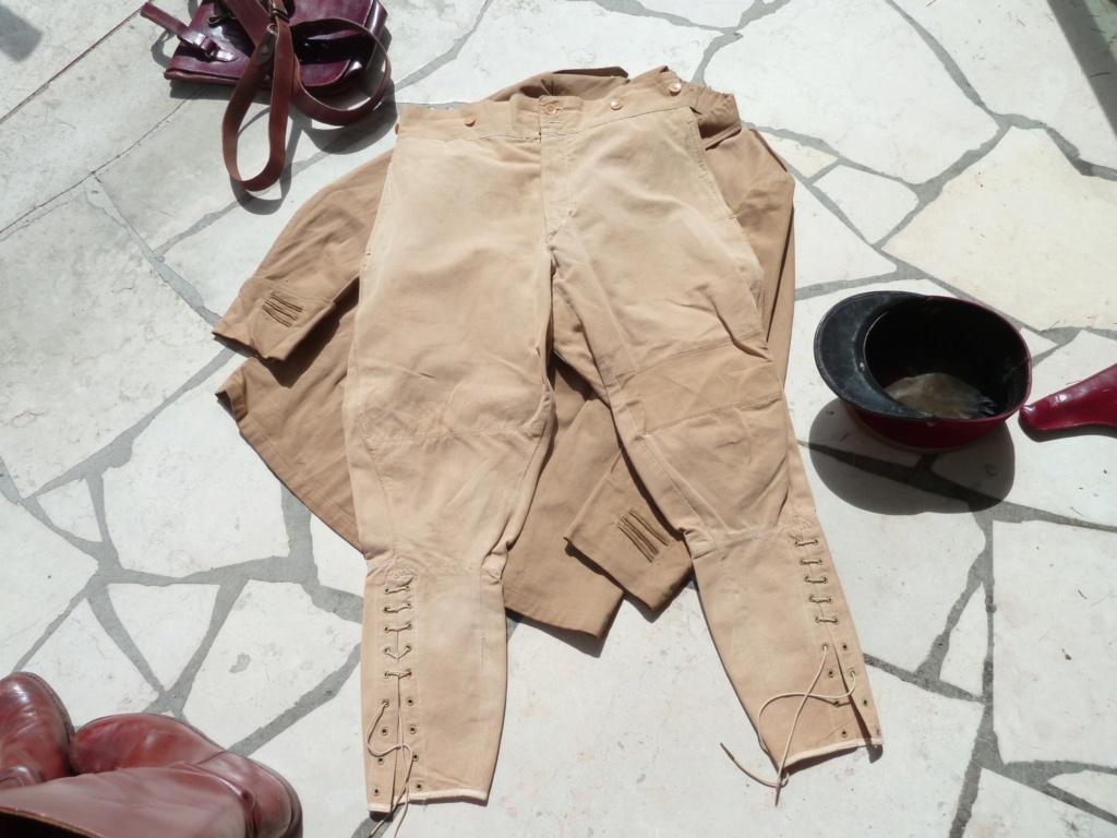 Ensemble toile médecin Guerre RIF Vareuse 29, Képi, culotte et accessoires ESC - JUIL 3 Finie P1120125