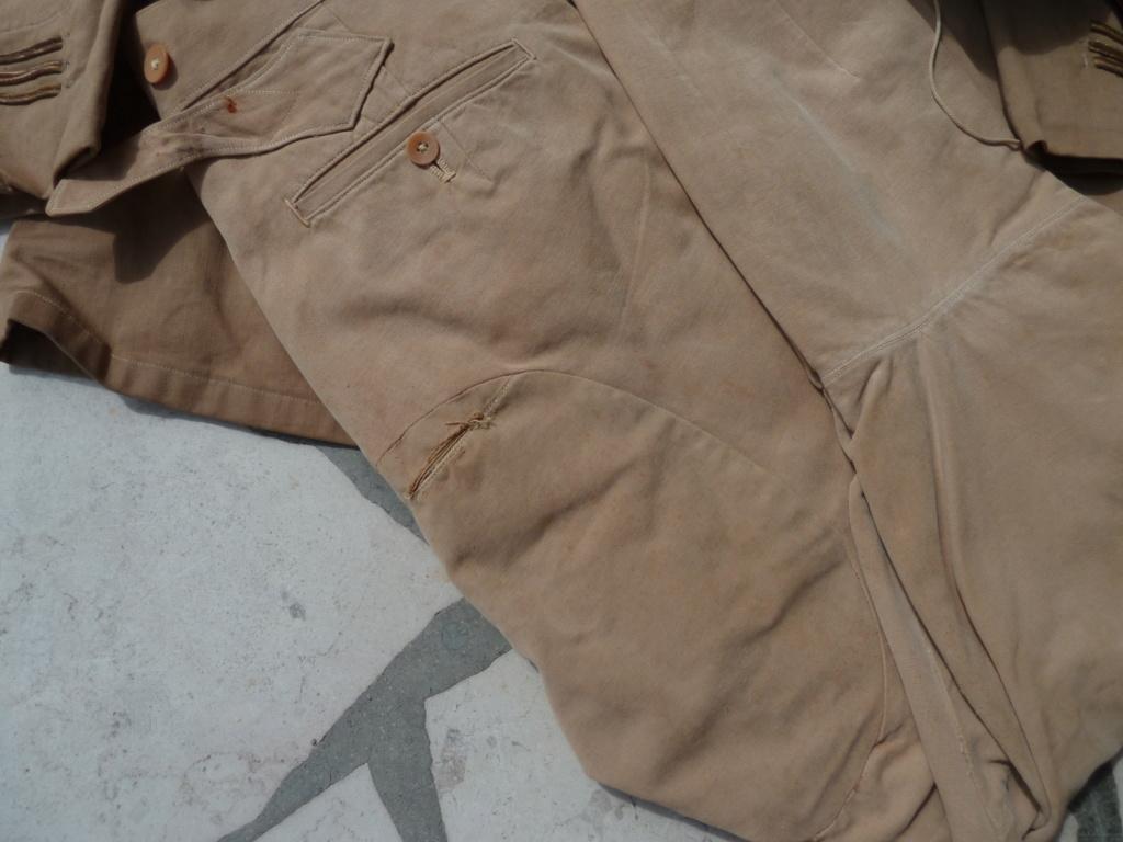 Ensemble toile médecin Guerre RIF Vareuse 29, Képi, culotte et accessoires ESC - JUIL 3 Finie P1120127