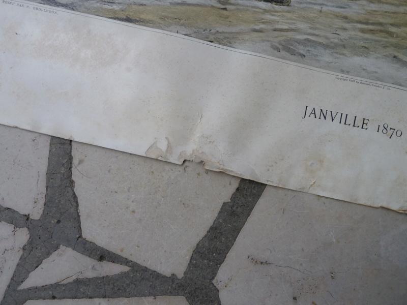 Affiche typogravure Janville  Eure et loire 1870 ESC - AOUT 1 A Clôturer  P1120336