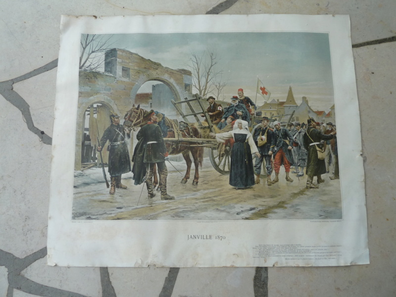 Affiche typogravure Janville  Eure et loire 1870 ESC - AOUT 1 A Clôturer  P1120337