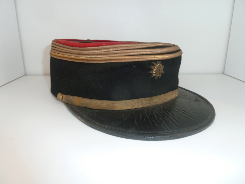 Képi polo officier d'administration du SSA WW1 7cm Capitaine ESC - OCT 1  VENDU P1120544
