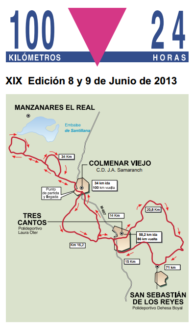"100km en 24 h ""El Gran Reto de 2013"" (Espagne) 8-9 juin 2013 Colmen10"