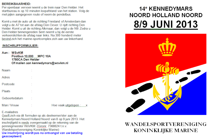 Marche Kennedy (80km) de Den Helder(NL): 8-9/6/2013 Den_he11