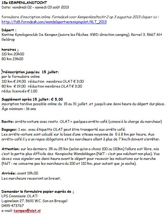 Kempenlandtocht (Geldrop, NL): 110km/80km: 2-3 août 2013 Kempen10