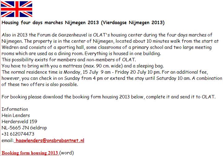 4 jours de Nimègue (46.000 places): 15-19 juillet 2013 Nijmeg10