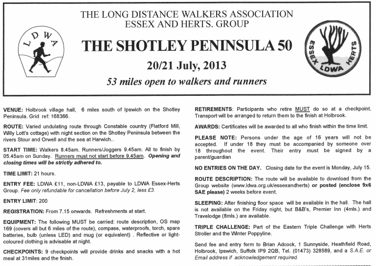 """Shotley Peninsula 50""; GB; 53EM (85km)/21h; 20-21/07/2013 Shotle10"