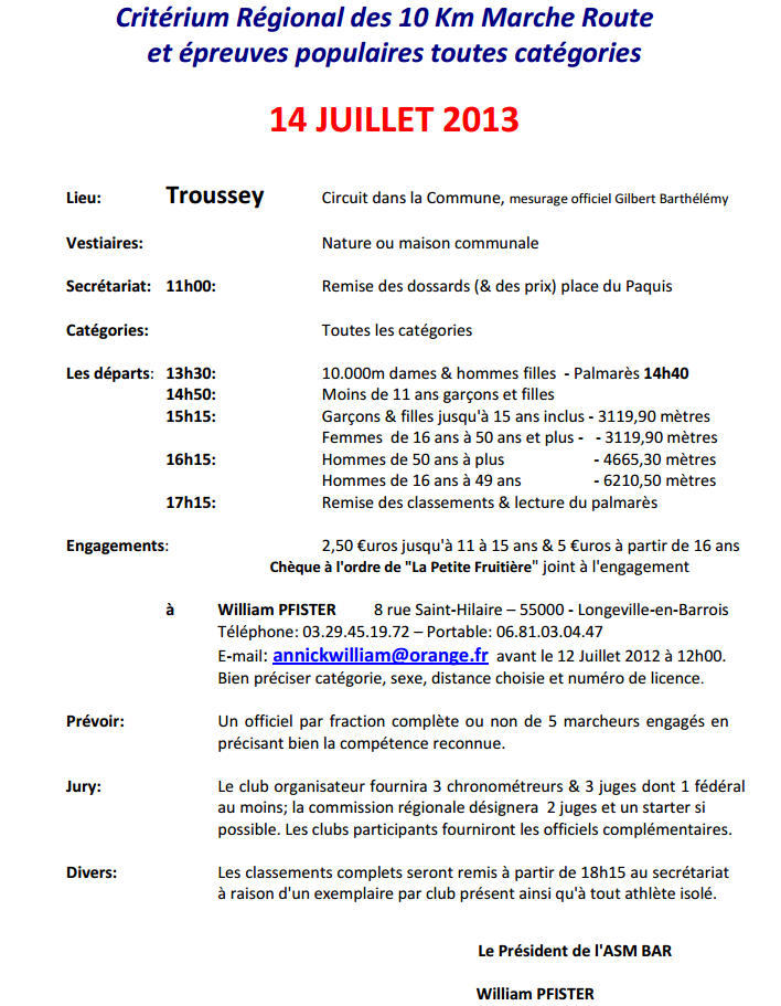 14 juillet  10 km route à Troussey Trouss10