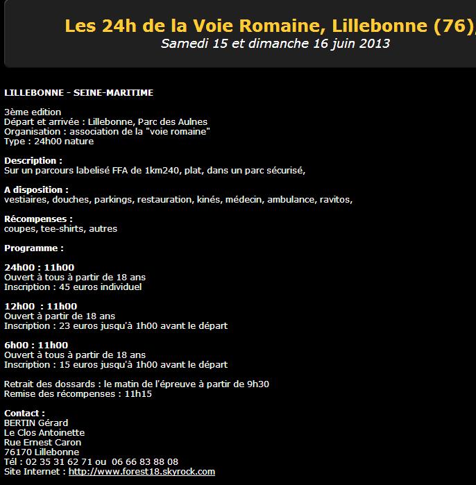 24h de la Voie Romaine, Lillebonne(76): 15-16 juin 2013 Voie_r11