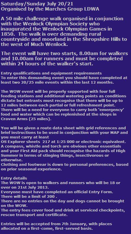 50 miles marche des Jeux Olympiens (WOW): 20-21 juillet 2013 Wow_2013