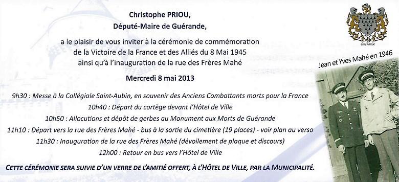 Inauguration de la rue des frères Mahé à Guérande Maha-g10