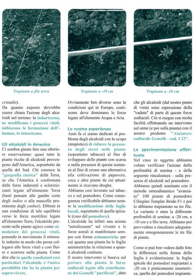 Come ridurre gli alcaloidi nelle piante - Ricerca EUREKA U10