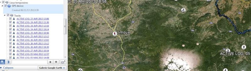 Telechargement données GPS Garmin 301 Captur23