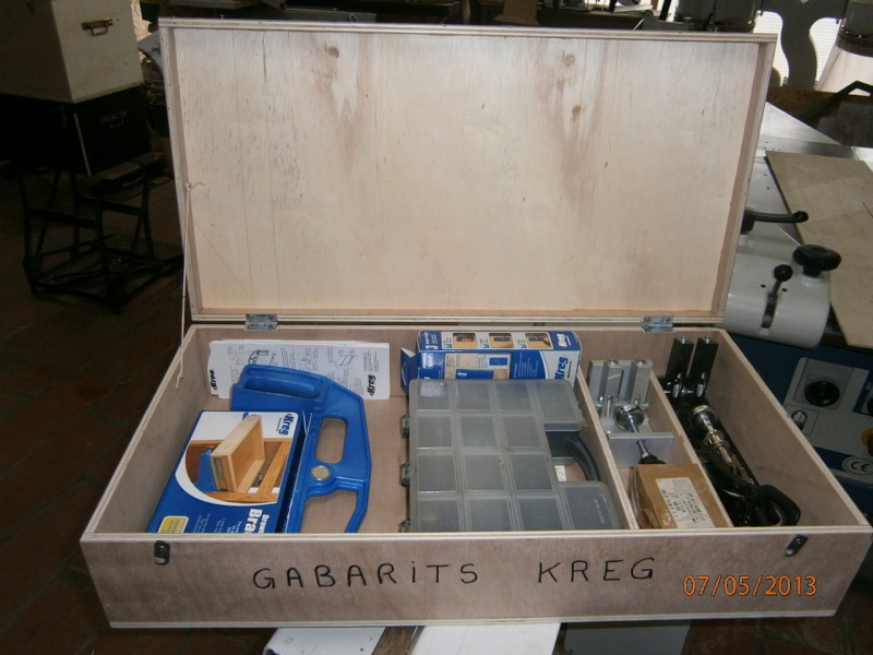 Fabrication coffrets de rangement pour accessoires Festool P5070123