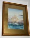 """E Harwood - """"Almirante Saldanha"""" Watercolour. 210"""