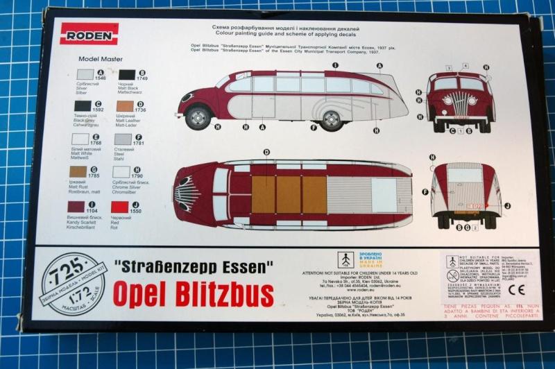 """Opel Blitzbus """"Strassenzeppelin Essen"""" 1/72 Roden 212"""
