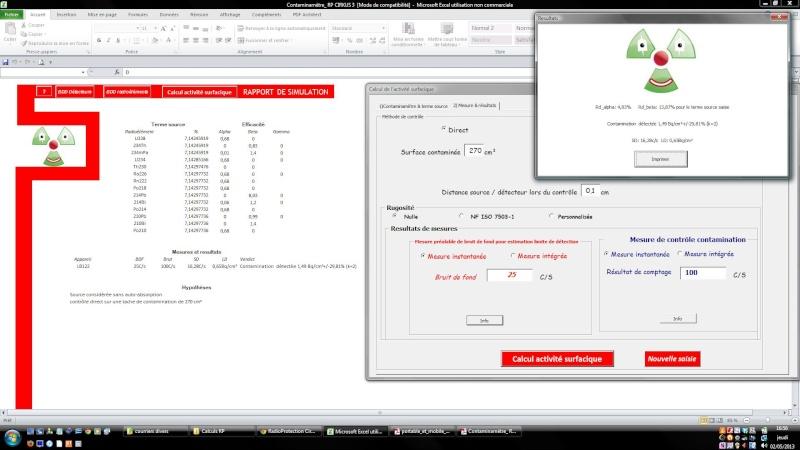 Calculer le rendement d'une sonde en fonction du radionucléide Ecran_10