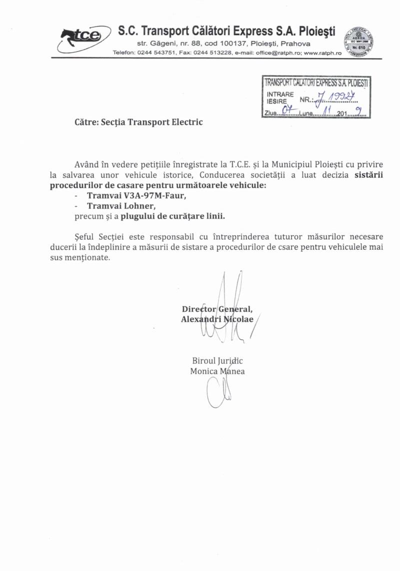 Salvarea ultimelor vehicule istorice de transport public electric din Ploiești Decizi10