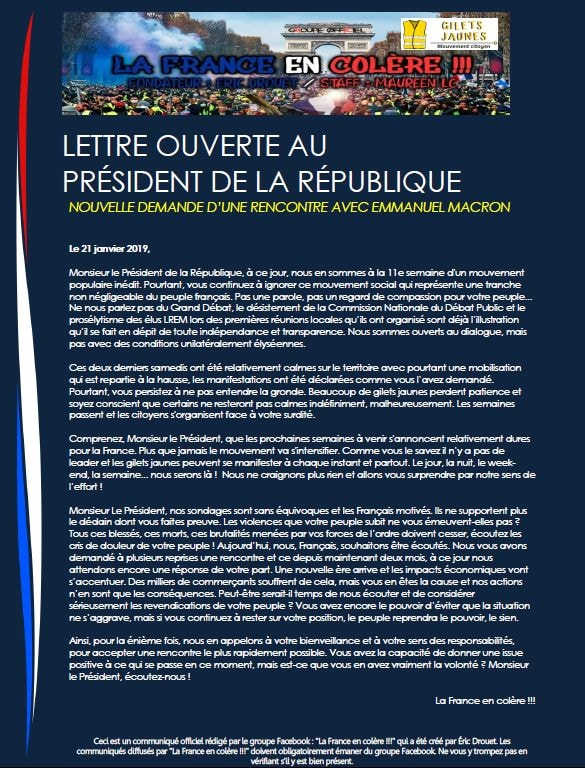 Sobre el movimiento de los chalecos amarillos en Francia. Crítica necesaria a NC y otros grupos. Valoraciones e informaciones - Página 5 50762610
