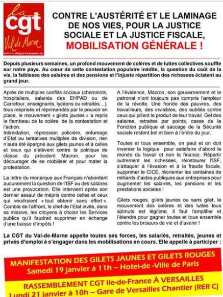 Sobre el movimiento de los chalecos amarillos en Francia. Crítica necesaria a NC y otros grupos. Valoraciones e informaciones - Página 5 Cgt10