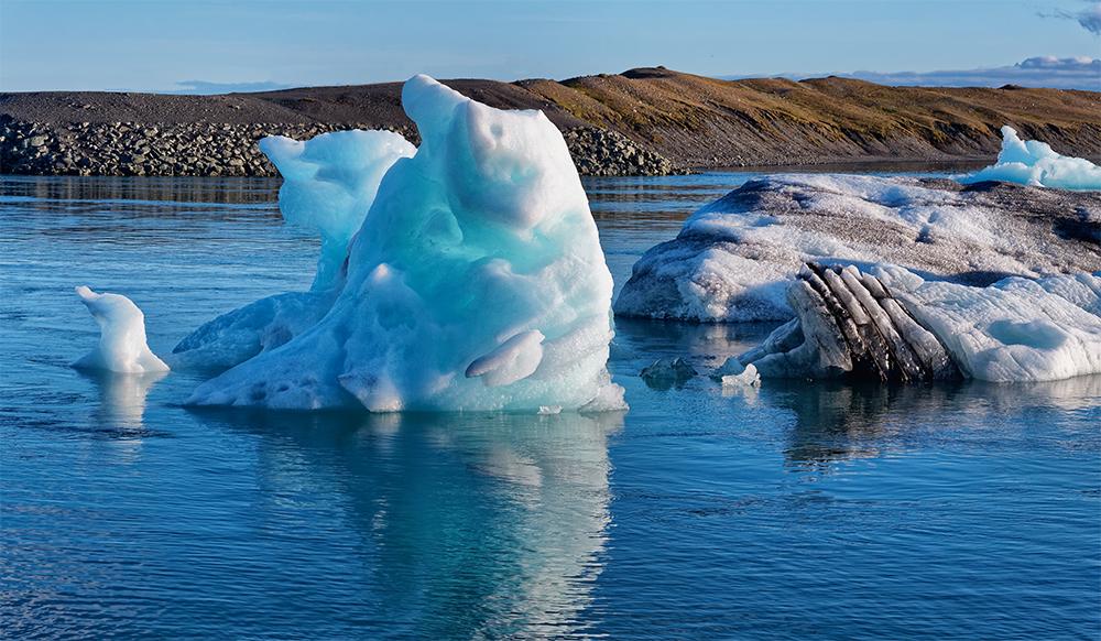 Jökulsárlón, icebergs colorés Jzkuls14