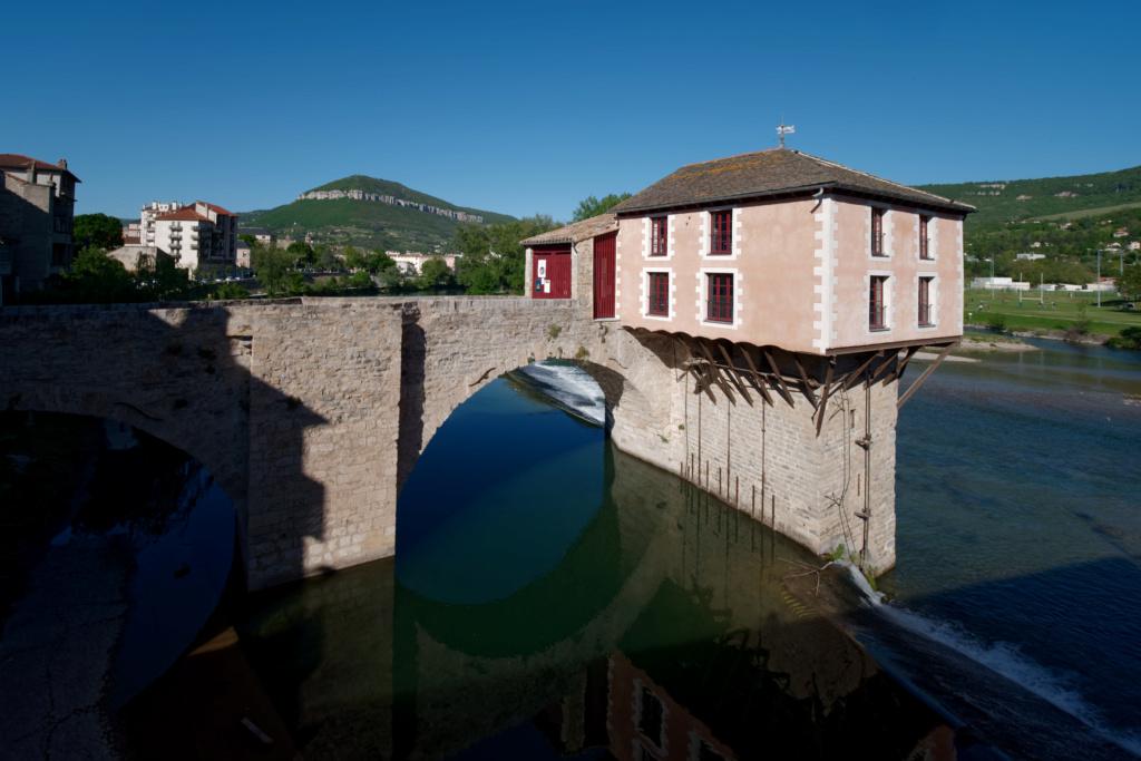 [Architecture_et_Graphisme] Le Pont Vieux et son moulin, Millau P1110912
