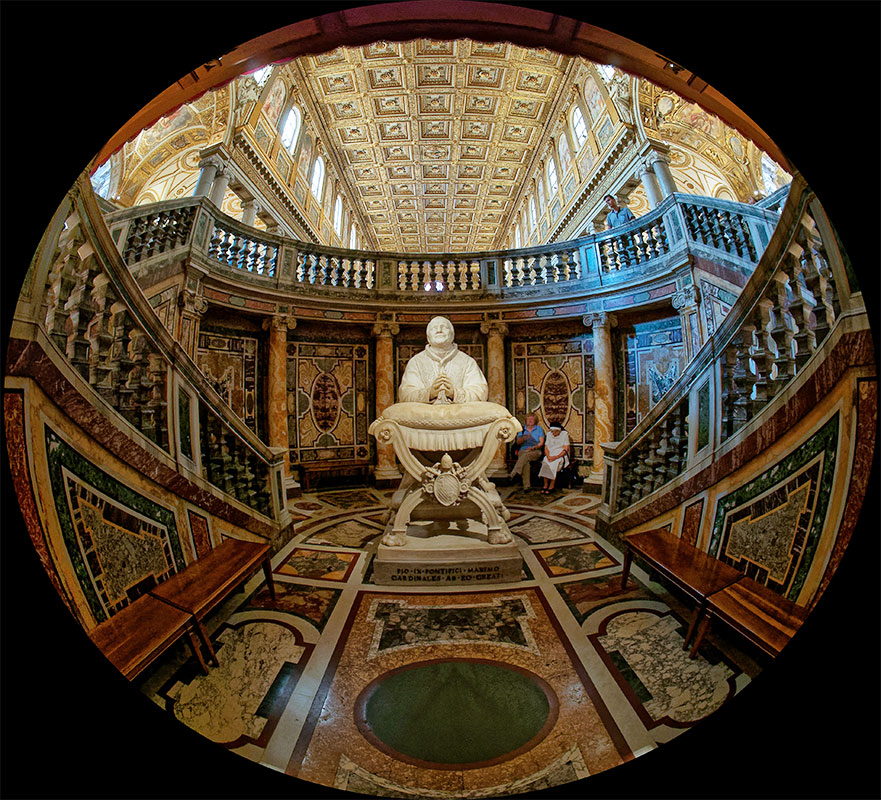 Rome, Sainte Marie Majeure, tombe du pape Pie IX Rome_s13