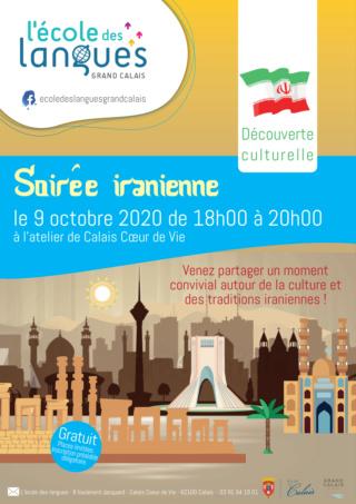 Soirée iranienne à l'école des langues de Calais le vendredi 9 oct 2020 Tempo318