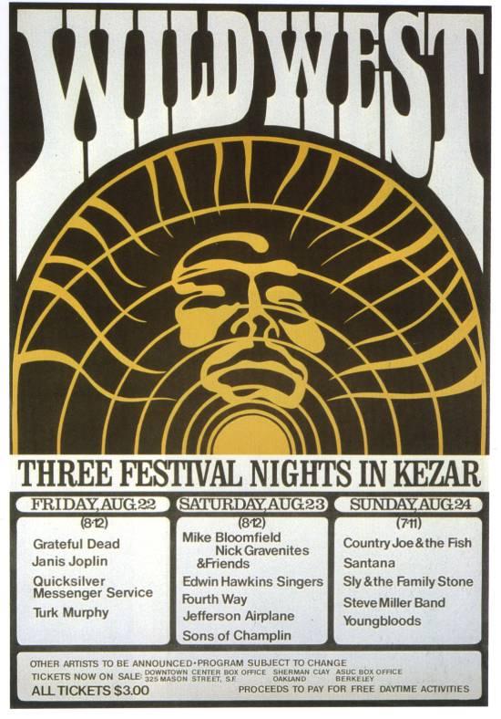 Grateful Dead - Affiches 19690810