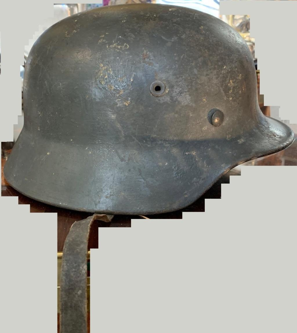 Deux casques allemands , un avec camouflage Casque12