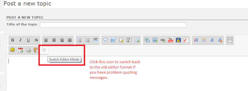 [FORUM HELP] Problem quoting messages? Can't get used to the new forum message editor? Read this.... Switch10