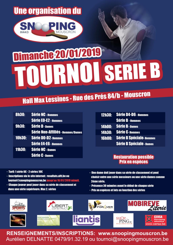 Tournoi international - Snooping Mouscron - 20/01/19 Affich10