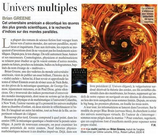 [UN ARTICLE DE PRESSE] Les univers parallèles, une théorie intéressante ! 98328310