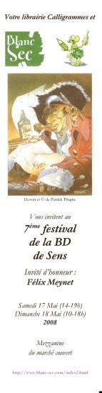 Marque-pages de Bandes Dessinées et de Festivals de BD  Numa2210