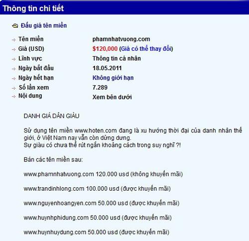 Chuyện kinh doanh tên miền 49888410