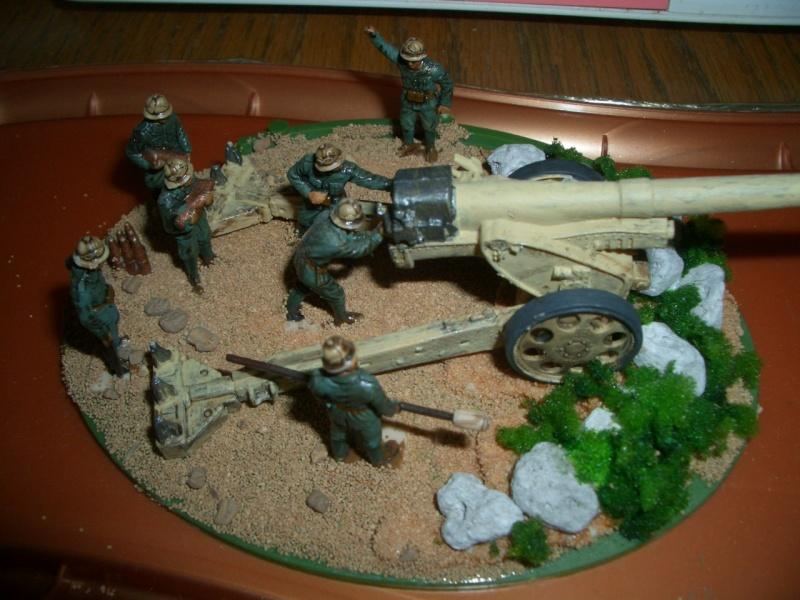 Italienische schwere Artillerie   149/40 Kanone   !:72 Cimg0211