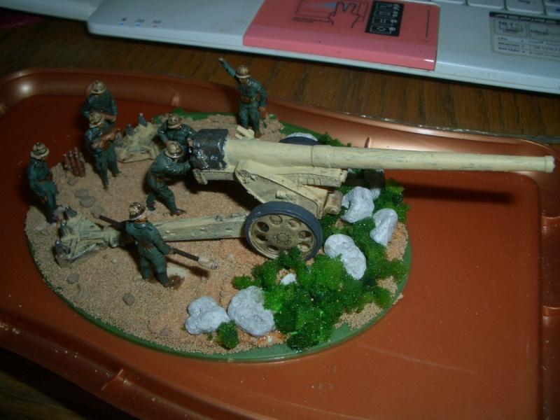 Italienische schwere Artillerie   149/40 Kanone   !:72 Cimg0212