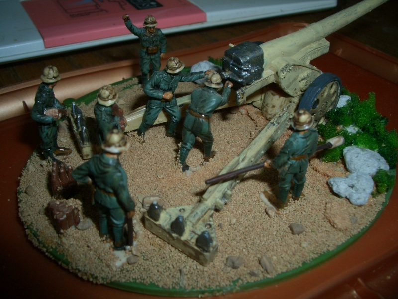 Italienische schwere Artillerie   149/40 Kanone   !:72 Cimg0213