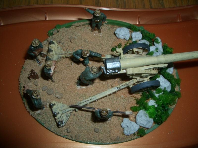 Italienische schwere Artillerie   149/40 Kanone   !:72 Cimg0214