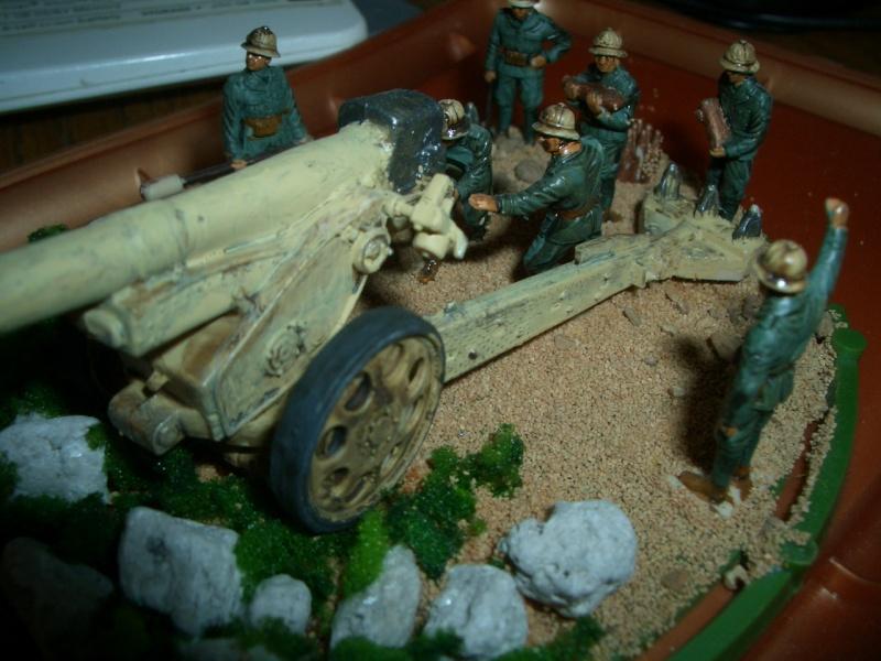 Italienische schwere Artillerie   149/40 Kanone   !:72 Cimg0215